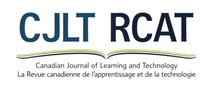 Logo for Canadian Journal of Learning and Technology / La revue canadienne de l'apprentissage et de la technologie